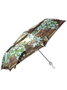 """Зонт """"Компакт S"""", коричнево-зеленый"""