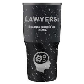 Travel Mug by Miroslav Potic - Digital Art Things ( mug, judge, coffee, lawyers, travel )