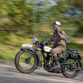 On the road yet by Jiri Cetkovsky - Transportation Motorcycles ( kocianka, veteran, motorcycle, road, race )