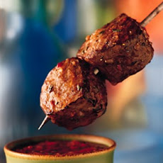 Beef Sirloin Kabobs with Roasted Red Pepper