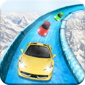 Frozen Water Slide Car Race APK icon