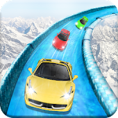 Frozen Water Slide Car Race APK for Bluestacks