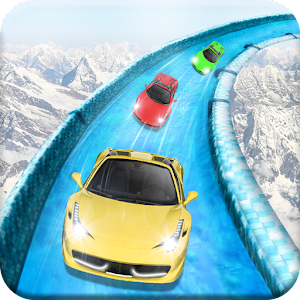 Frozen Water Slide Car Race Online PC (Windows / MAC)