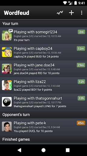 Wordfeud FREE screenshot 2