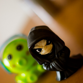 Dark man by Horatiu Almasan - Artistic Objects Toys ( little-man, toy, black, close-up, the force )