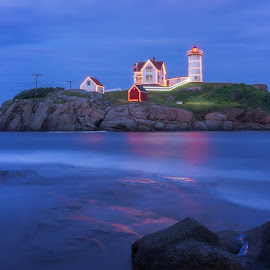 Nubble Christmas in July by Matt Reynolds - Buildings & Architecture Other Exteriors