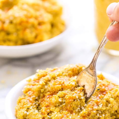 Buffalo Cauliflower Quinoa Mac + Cheese