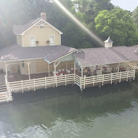 The view from the upper deck of the Liberty Belle. by Stephen Heinly - Instagram & Mobile Android