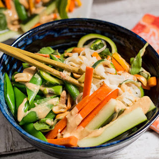 Spring Thai Salad with Peanut Sauce