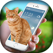 Free Download Cat on Screen - Cat in Phone Prank APK for Samsung