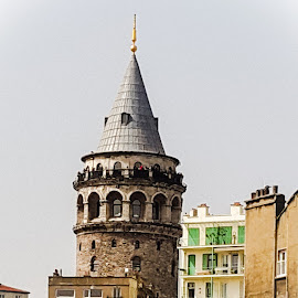 Galanta tower 14th century by Naveen Aggarwal  - Buildings & Architecture Statues & Monuments ( galanta tower, architecture, istanbul )