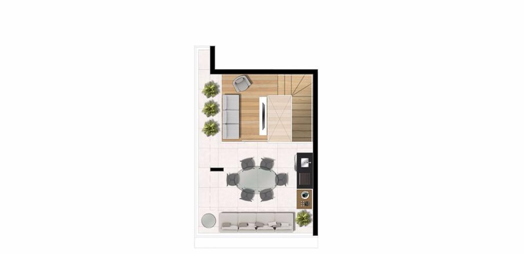 Planta Triplex Cobertura 94 m²