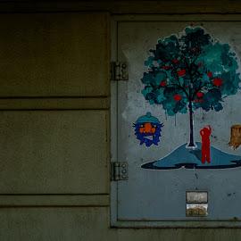 Tree power by Charles Shope - City,  Street & Park  Street Scenes ( natural light, industrial, park, outdoor, street, art, bridge, paiting )