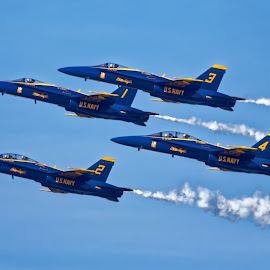 Upward Angels by Raphael RaCcoon - Transportation Airplanes ( airplane, jet, blue angels )