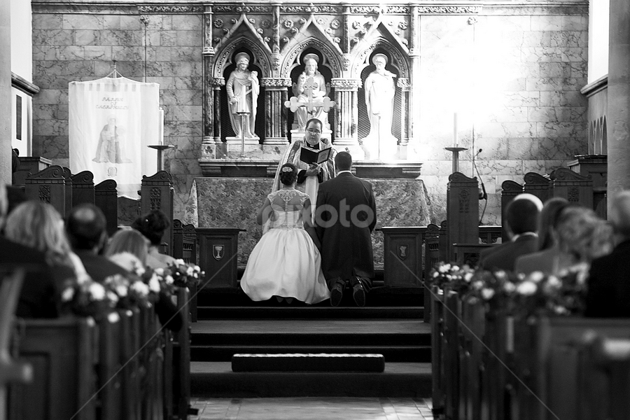 At the Alter by Martin Burnett - Wedding Ceremony ( vows, priest, church, confetti, wedding, aisle, pew, bride, ceremony, groom, alter, vicar )