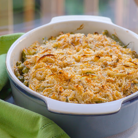 Clean Green Bean Casserole with Parmesan Crumb Topping