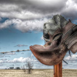 Broken Boot by Michele Richter - Artistic Objects Clothing & Accessories ( boot, hdr )