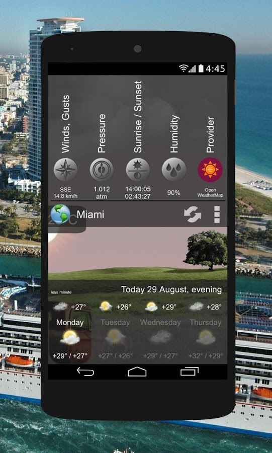 Animated Weather Widget&Clock Screenshot 5