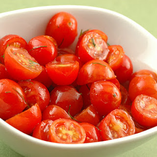 Spring Grape Tomato Salad