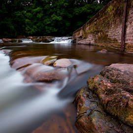 The River Swale by Nigel Smith - Landscapes Waterscapes ( water, canon, richmond, waterscape, waterfall, 10mm, river swale, 10-20mm, running water, eos, canon eos 60d, le, yorkshire, sigma, nd, long exposure, river, water surface )