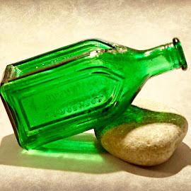 Green Bottle by Brenda Conrad - Artistic Objects Glass ( colorful, color, green, glass, rock, bottles, bottle,  )