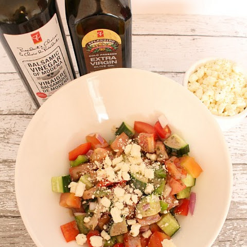 Greek Salad Recipe with Creamy Dressing