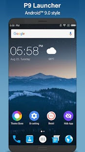 P9 Launcher - Android™ 9.0 P Launcher Style Screenshot