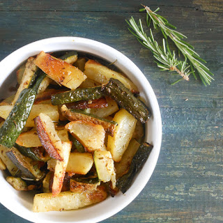 Roasted Potatoes And Zucchini