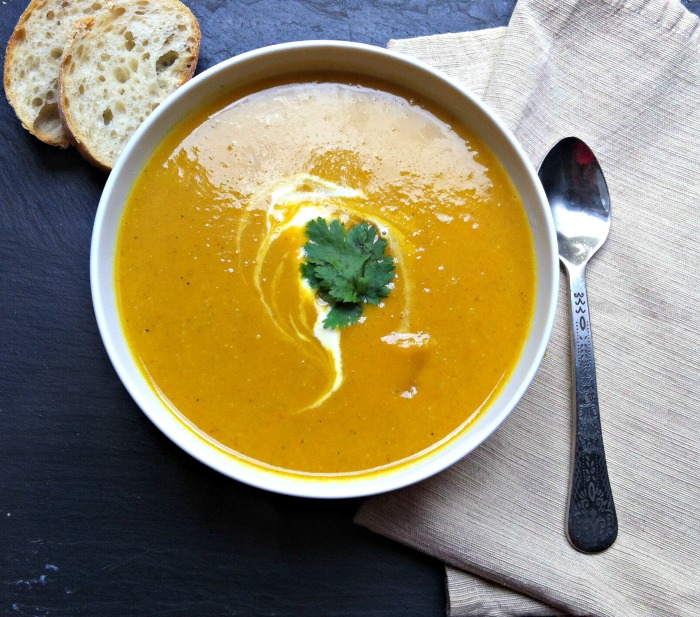 Curried Coconut Butternut Squash Soup Recipe | Yummly