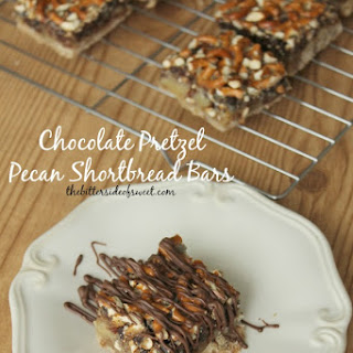 Chocolate Pretzel Pecan Shortbread Bars