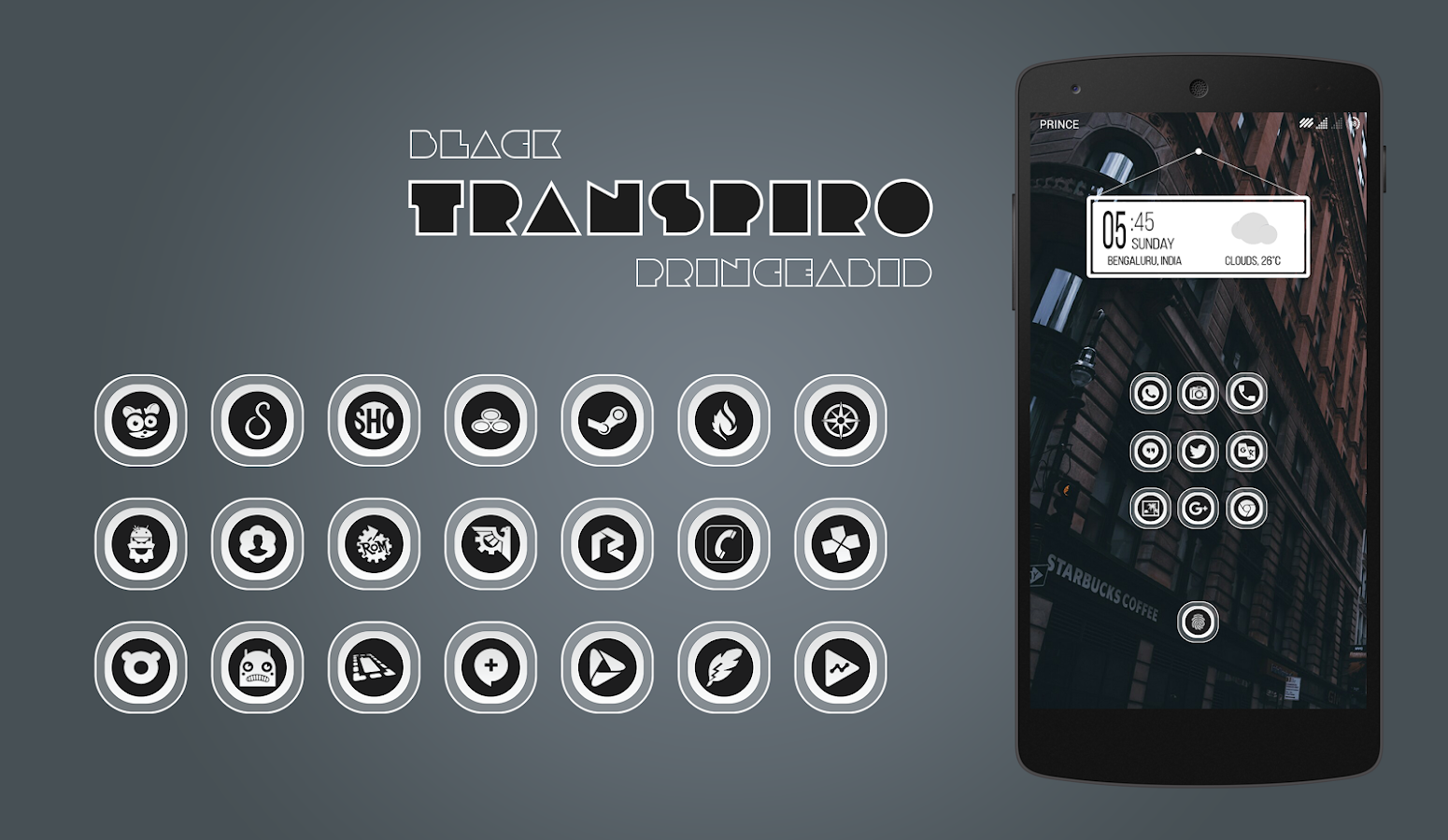 Transpiro Black Icon Pack Screenshot 2