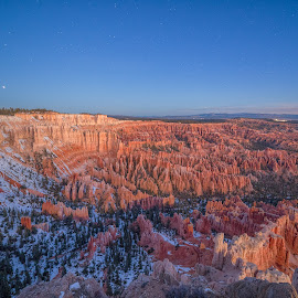 Dawn before Sunrise at Bryce Canyon by Nick Johnson - Landscapes Travel ( utah, long exposure, astrophotography, sunrise, bryce canyon )