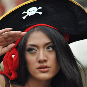 Pirates Lady by Dadan Suryasaputra - People Portraits of Women