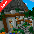 Modern Mountain Home MCPE map