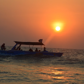 Journey  by Ram Verma - Landscapes Beaches ( nature, sunset, beach, travel, boat,  )