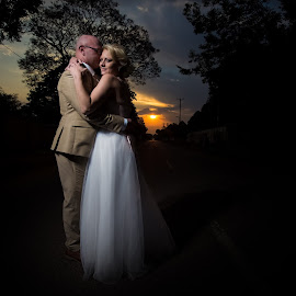 Dusk by Lodewyk W Goosen (LWG Photo) - Wedding Bride & Groom ( wedding photography, wedding photographers, wedding destination, wedding couple, love, kiss, wedding, weddings, wedding day, sunset, bride and groom, wedding photographer, bride, groom, bride groom )