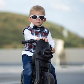 by Gawie van der Walt - Babies & Children Child Portraits ( #kid #motorcycle #glasses #sunglasses #cool,  )