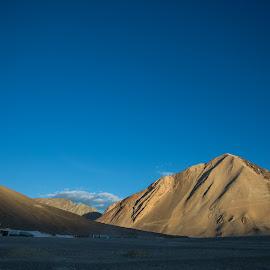 Pangong Tso by Karthikeyan Chinnathamby - Landscapes Mountains & Hills ( mountain, himalayas, hills, valley, treavel, himachal, india, landscape )