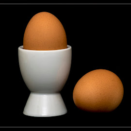 time to break egg by Petr Germanič - Food & Drink Eating ( two, eggs, food, white, brown )