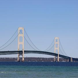 Mackinaw Bridge by Warren Reinhardt - Buildings & Architecture Bridges & Suspended Structures
