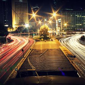 Jakarta In a Rush by Natalia Puspa - City,  Street & Park  Vistas ( indonesia, britrockholic, jakarta, teman )