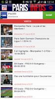 Screenshot of PARIS INFOS/Actu,mercato,vidéo
