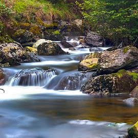 Drws-y-nant, wales by Craig Hutton - Landscapes Waterscapes ( waterscape, wales, waterfall, drws-y-nant, landscape, rocks )