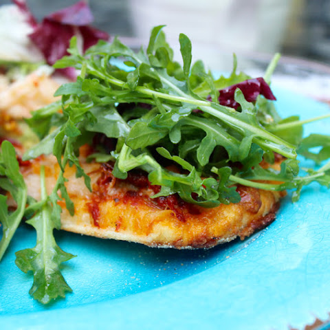 Lobster Truffle Pizza with Arugula Salad