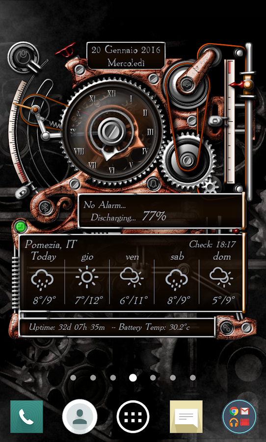 XtraOClock Steampunk Widget Screenshot 3
