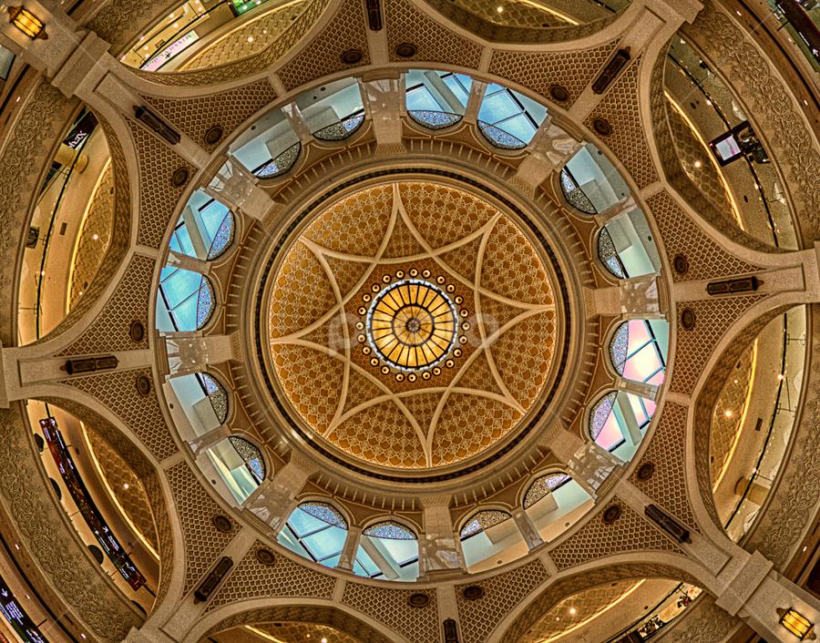 look up by Marwin Javier - Buildings & Architecture Architectural Detail ( detail, dubai mall, architectural, circle, design )