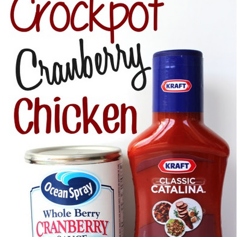 Crockpot Cranberry Chicken Recipe!