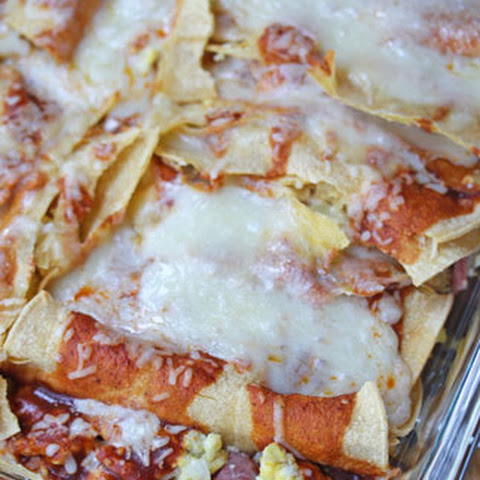 Ham and Eggs Breakfast Enchiladas