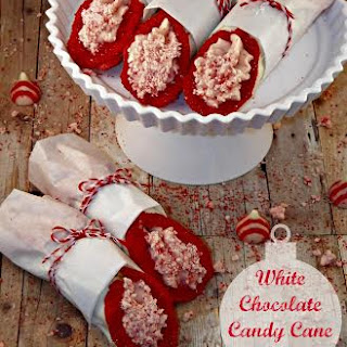 White Chocolate Candy Cane Cannolis