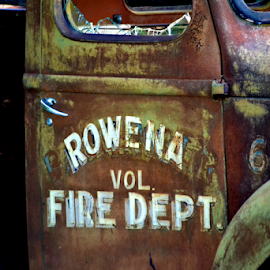 Door panel on old fire truck by Pam Alexander - Transportation Automobiles